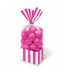 sachets bonbons fuschia