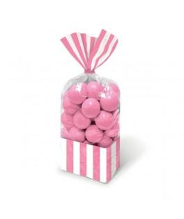 sachets bonbons roses