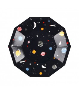 8 PEtites assiettes Espace - 18 cm