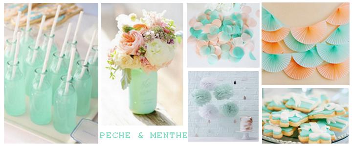 Inspiration Pastel Pêche & Menthe