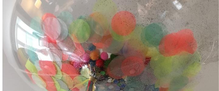 Mon joli ballon bubble et ses confettis