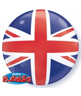 Ballon Bubble Supporter Union Jack