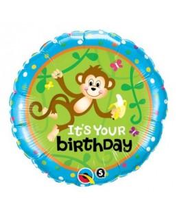 Ballon Singe It's Your Birthday alu