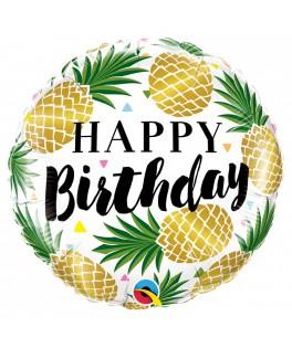 Ballon Ananas Happy Birthday