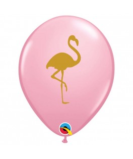 Ballon Flamant rose latex