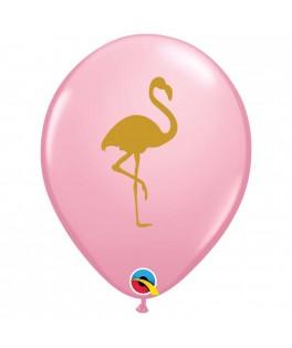 Ballon Flamant rose latex