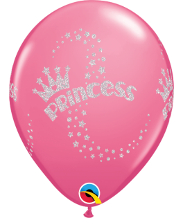 25 Ballons Princesse rose