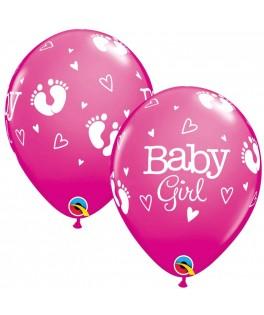 Ballons Empreintes Bebe Fille