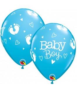 Ballons Empreintes Bebe Garcon bleu
