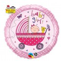 Ballon Baby Girl rose alu - 46 cm
