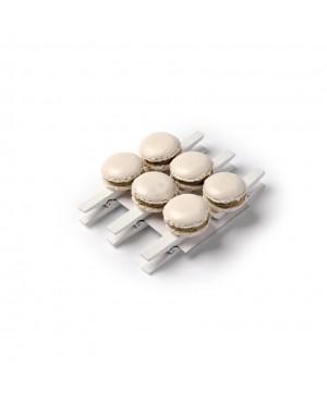 Mini pinces Macaron ivoire