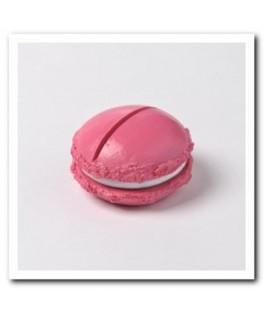 Porte-nom Macaron fuschia