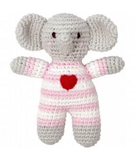 Hochet éléphant rose Baby charms