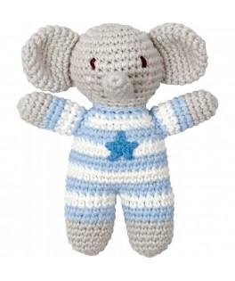 Hochet éléphant bleu Baby charms