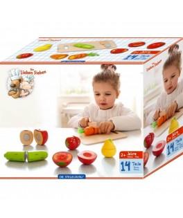 """Kit en bois à découper """"Fruits et Légumes"""" 7 Copains"""