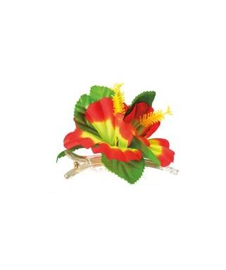 Broche fleur Hibiscus Hawaienne