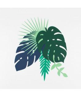 Decorations 12 Feuilles tropicales en papier