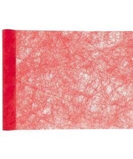 Chemin de table fanons rouge (30 cm x 5 m)