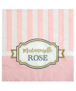 Serviettes Baby Shower Mademoiselle Rose