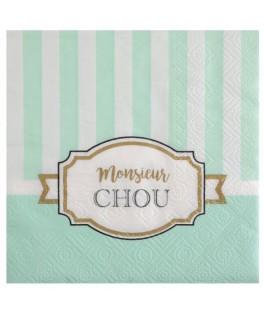 20 Serviettes papier Monsieur Chou