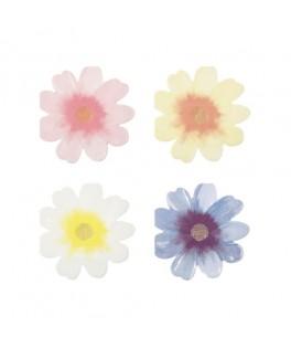 16 Serviettes en papier fleurs 13 cm