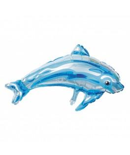 Ballon Dauphin Bleu mylar