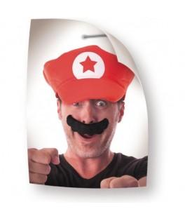 Moustache Mario noire