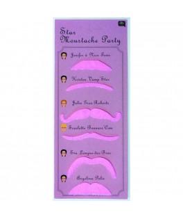 Assortiment de 6 moustaches roses