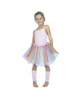 Tutu rose pastel multicolore 6-8 ans