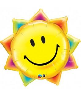 Ballon Emoji soleil jaune - 46 cm
