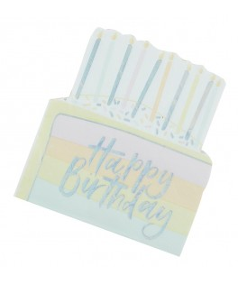 16 Serviettes Gateau Anniversaire Happy Birthday