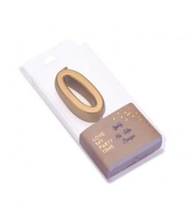 Bougie Chiffre 0 métal dorée