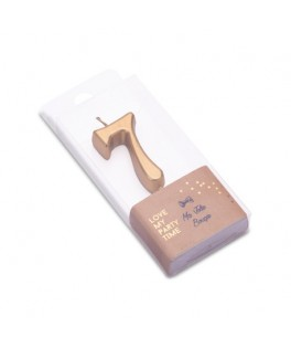 Bougie Chiffre 7 métal dorée