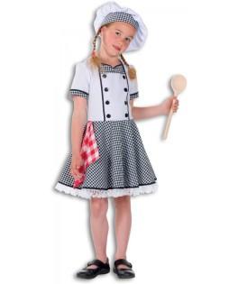 Déguisement chef cuisinier fille