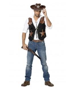 Déguisement Gilet de Cowboy Homme