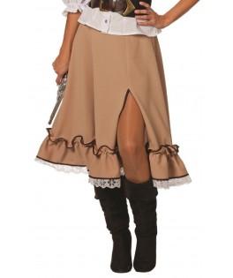 Déguisement Jupe Western Cowgirl marron