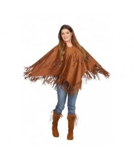 Déguisement Poncho Hippie Femme