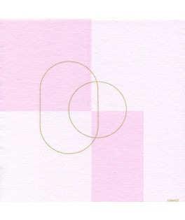 20 Serviettes Ellipse rose 40x40 cm