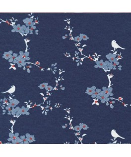 20 Petites serviettes cocktail kimono bleu - 40 x 40 cm