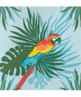 20 Serviettes Perroquet Turquoise - 40 x 40 cm