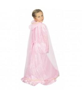 Déguisement Cape Princesse Plume rose & or Enfant