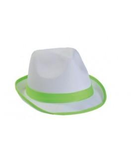 Chapeau Borsalino blanc  Fluo vert