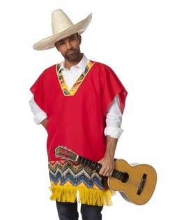 deguisement poncho mexicain homme
