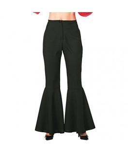 Déguisement Pantalon Hippie noir Femme