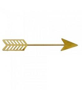 Flèche en métal or - 12 x 2 cm