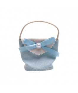 Pochon de jute Loly Bleu
