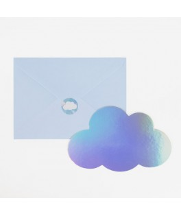 8 Invitations Nuages