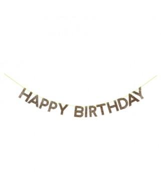 Guirlande HAPPY BIRTHDAY paillettes or