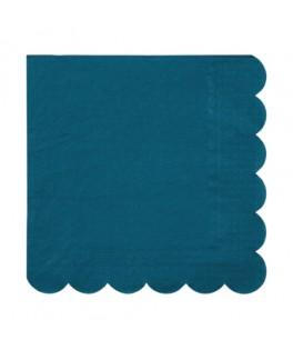 20 Grandes serviettes vert foncé 33 cm