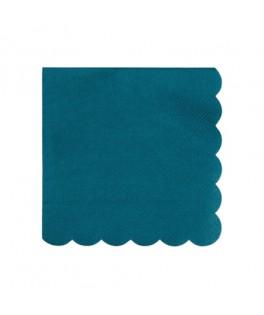 20 Petites serviettes vert foncé